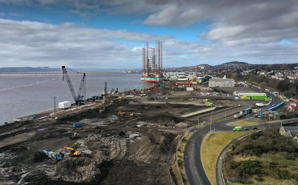 A general view of the port and dockside area on in Dundee - Jeff J Mitchell/Getty Images