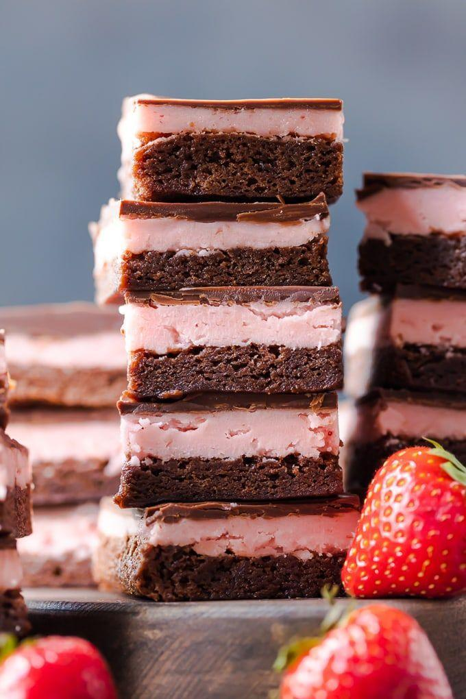 "<p>Chewy, rich brownies are covered with a strawberry filling in this dessert that's to die for. Dare we say to top with ice cream?</p><p><strong>Get the recipe at <a href=""https://www.thecookierookie.com/strawberry-brownies-chocolate-covered-strawberry-brownie-recipe/"" rel=""nofollow noopener"" target=""_blank"" data-ylk=""slk:The Cookie Rookie"" class=""link rapid-noclick-resp"">The Cookie Rookie</a>.</strong></p><p><strong><a class=""link rapid-noclick-resp"" href=""https://www.amazon.com/Wilton-2109-6836-Non-Stick-Multipack-Assorted/dp/B0732PFZNW/?tag=syn-yahoo-20&ascsubtag=%5Bartid%7C10050.g.1138%5Bsrc%7Cyahoo-us"" rel=""nofollow noopener"" target=""_blank"" data-ylk=""slk:SHOP BAKING PANS"">SHOP BAKING PANS</a><br></strong></p>"