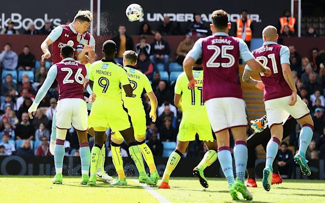 <span>James Chester levels for Villa</span> <span>Credit: Matthew Lewis/Getty Images </span>