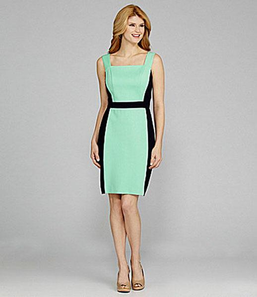 "<div class=""caption-credit""> Photo by: Dillard's</div><div class=""caption-title""></div><a target="""" href=""http://www.dillards.com/product/Antonio-Melani-Mikko-Squareneck-Colorblock-Dress_301_-1_301_503605397?df=03935232_zi_mint_navy&cm_mmc=Linkshare-_-J84DHJLQkR4-_-null-_-null&linkshare=http://www.shopstyle.com/affiliate""><b>Antonio Melani Mikko Squareneck Colorblock Dress, $159</b></a> <br> This dress is less than half the price yet features the same color palette amd flattering colorblocked contour sides. <br>"