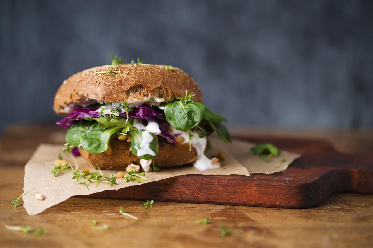 <p>Many veggie burgers contain wheat and gluten ingredients, so unless it's specifically stated to be gluten-free, steer clear.</p>