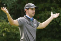 Patrick Cantlay walks the 12th fairway during practice for the U.S. Open Championship golf tournament at Winged Foot Golf Club, Wednesday, Sept. 16, 2020, in Mamaroneck, N.Y. (AP Photo/John Minchillo)