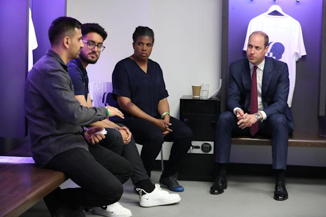 The duke joined a discussion with grassroots football players, coaches and fans from clubs across the country ahead of the launch. [Photo: Getty]