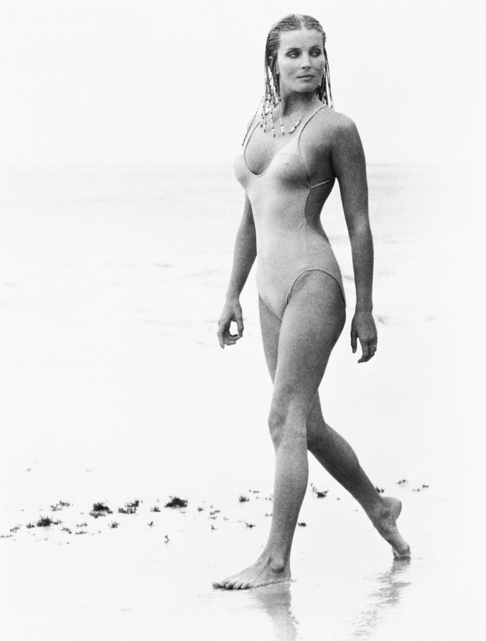 """Bo Derek wore her hair in cornrows for the 1979 film """"10."""" (Photo: Getty Images)"""