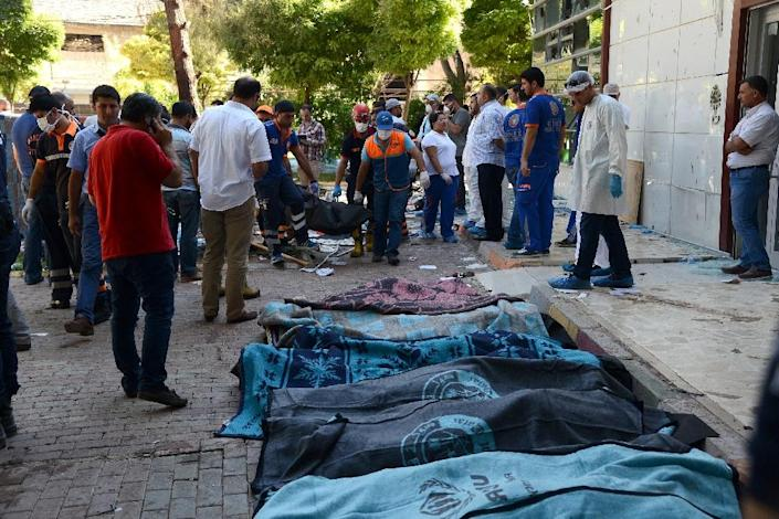The current crisis began two weeks ago on July 20 when 32 young pro-Kurdish activists were killed in a Turkish town on the Syrian border in a suicide bombing blamed on IS (AFP Photo/Ilyas Akengin)