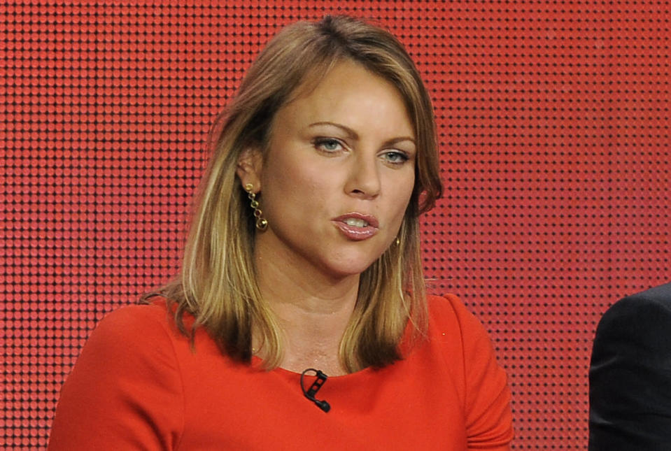 "FILE - In this Jan. 12, 2013 file photo, ""60 Minutes"" reporter Lara Logan takes part in a panel discussion at the Showtime Winter TCA Tour in Pasadena, Calif. Logan, whose 2013 report about the Benghazi attacks was retracted by CBS News over inaccuracies, is suing New York magazine over an article about the fallout that she claims tarnished her career. She is seeking $25 million in the lawsuit filed last week. (Photo by Chris Pizzello/Invision/AP, File)"