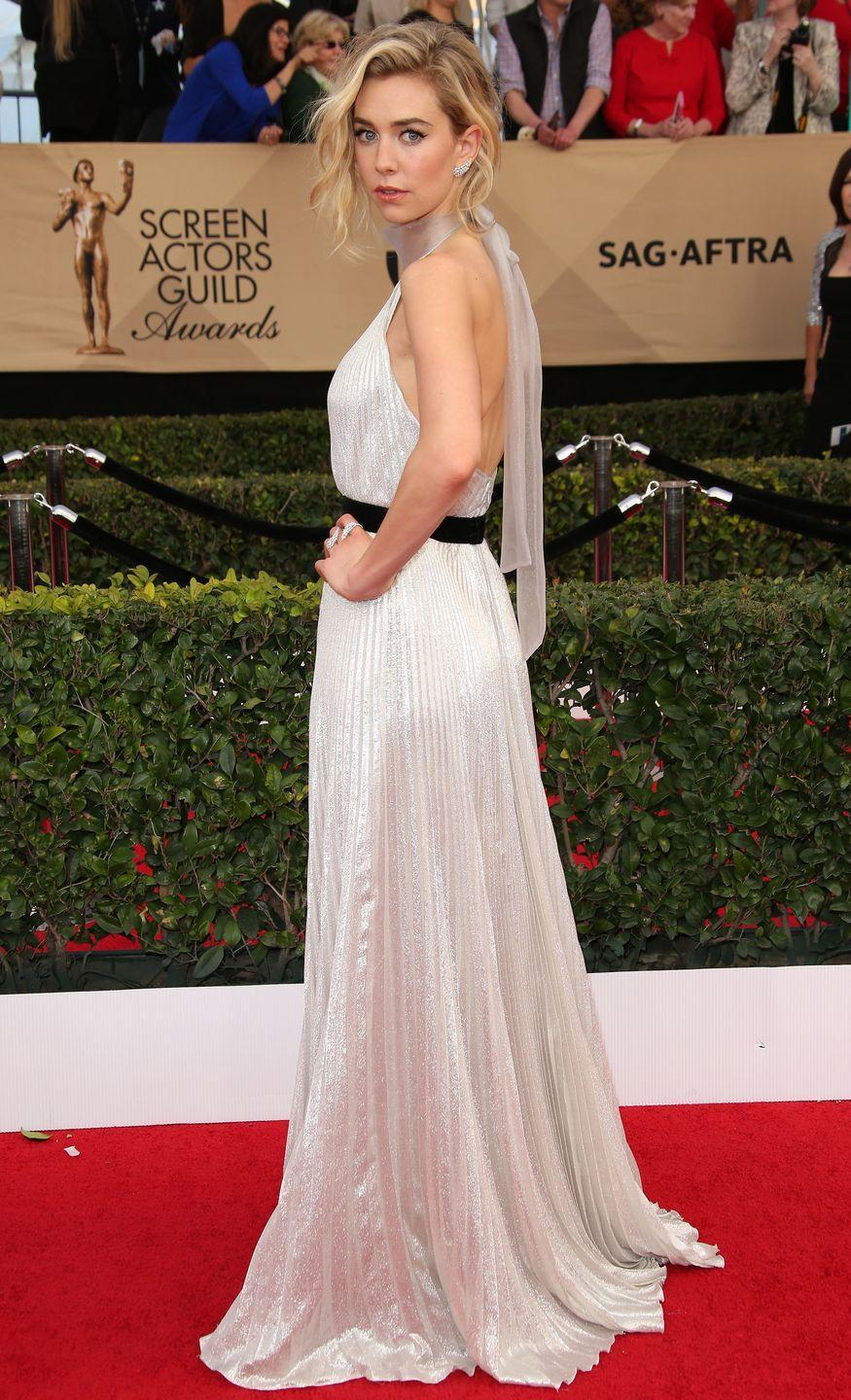 <p>Kirby wears a dress by Luisa Beccaria to the 23rd Annual Screen Actors Guild Awards.</p>