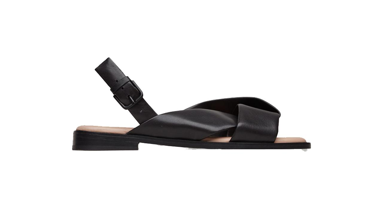 "<p>Cos is known for it's fashionable basics and we simply love these do-all tie-front sandals. They feel luxe yet will go with literally ANYTHING. <br /><a rel=""nofollow"" href=""https://www.cosstores.com/en_gbp/women/shoes/product.knotted-leather-sandals-black.0599425003.html"">Buy here.</a> </p>"