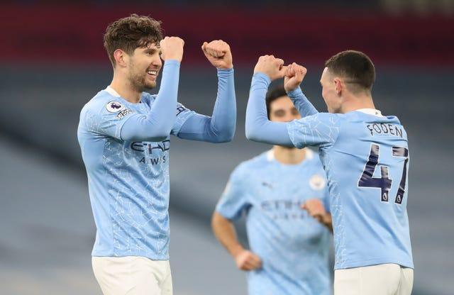 Manchester City's John Stones scored twice in his side's win over Crystal Palace