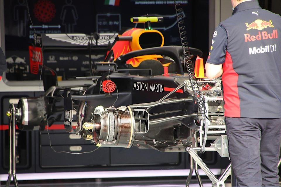 """Red Bull Racing RB16 front suspension<span class=""""copyright"""">Giorgio Piola</span>"""