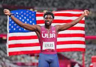 """<p>Biography: 24 years old</p> <p>Event: Men's 200m race</p> <p>Quote: """"I'm not defined by being an Olympic bronze medalist or gold-medal world champion or the high schooler that went pro. That's not who I am. I'm Noah Lyles.""""</p>"""