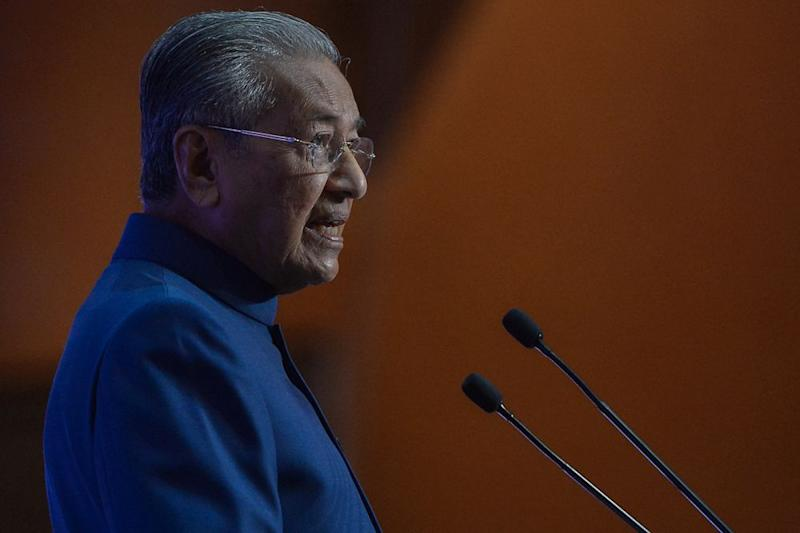 Mahathir said his administration would like to compensate those victimised by such moves, but could not presently afford to do so. — Picture by Mukhriz Hazim