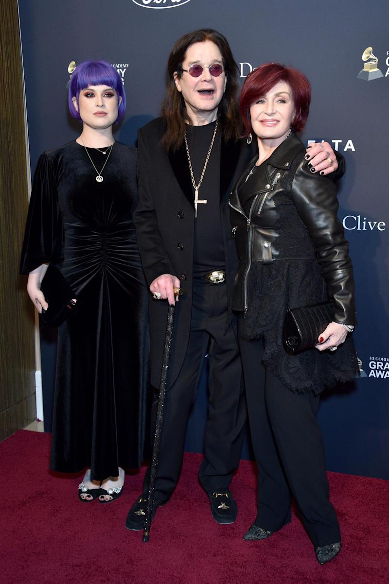 He posed with daughter Kelly and wife Sharon at the event (Getty Images for The Recording Academy)