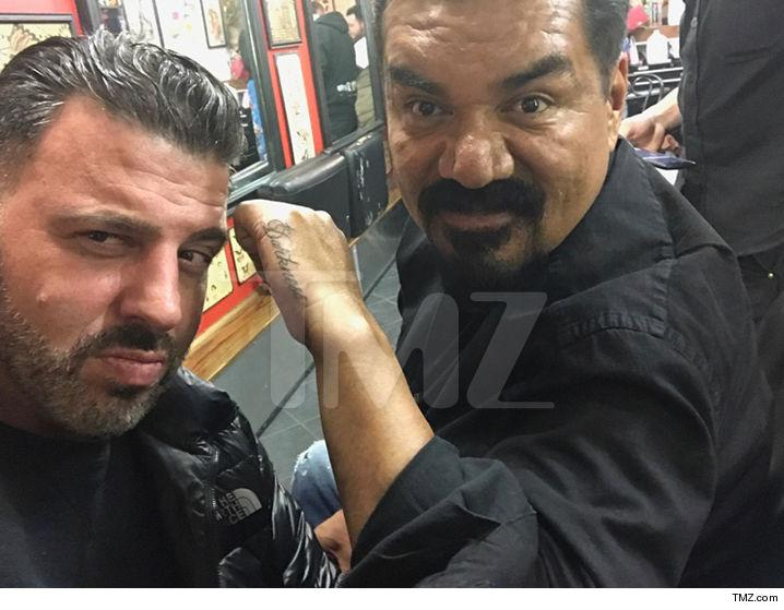 George Lopez shows off his new tattoo. (Photo: TMZ)