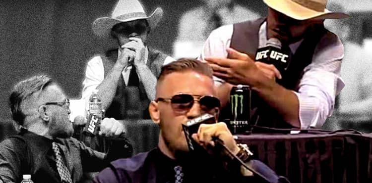 Conor McGregor vs Cowboy Cerrone presser collage