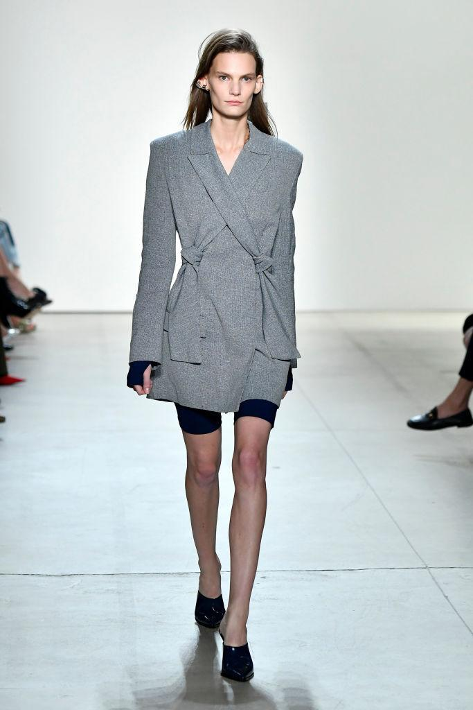 <p>Alan Sugar would be proud. Thought apprentice-style dressing was restricted to the boardroom? Think again, as nine-to-five office style has never been more in fashion. Look to Dion Lee for inspiration. <em>[Photo: Getty]</em> </p>