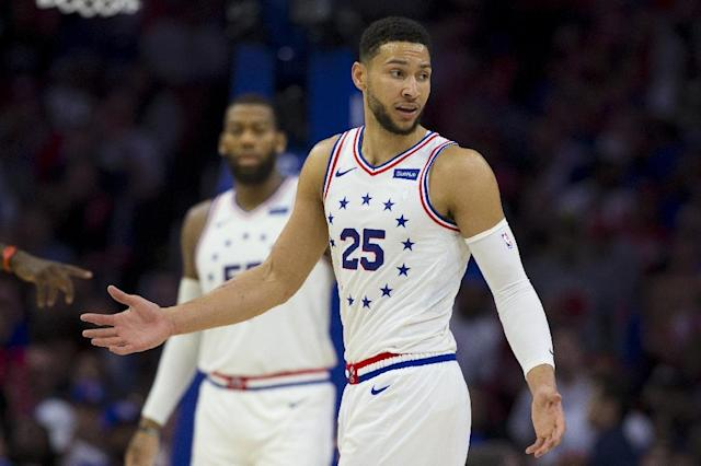 Ben Simmons #25 of the Philadelphia 76ers is in Australia's Wolrd Cup squad named Thursday (AFP Photo/Mitchell Leff)