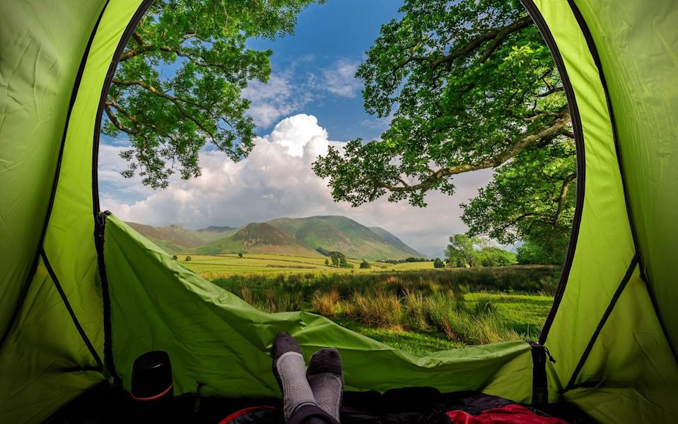 Camping near Buttermere, Lake District - istock