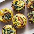 <p>Switch up your morning routine with these easy vegetarian mini quiches. Earthy mushrooms and spinach pair nicely with rich and creamy Gruyère cheese. Serve them on a platter with a fresh fruit salad for a simple weekend brunch.</p>
