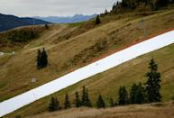 The track is the first in Kitzbuhel to open in October for the fifth consecutive year (AFP Photo/JOE KLAMAR)