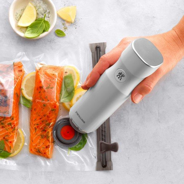 Reviewers say that this sleek, compact kitchen tool blends the power of a countertop vacuum sealer with the versatility of a handheld device. It's fast, quiet, and easy to use.
