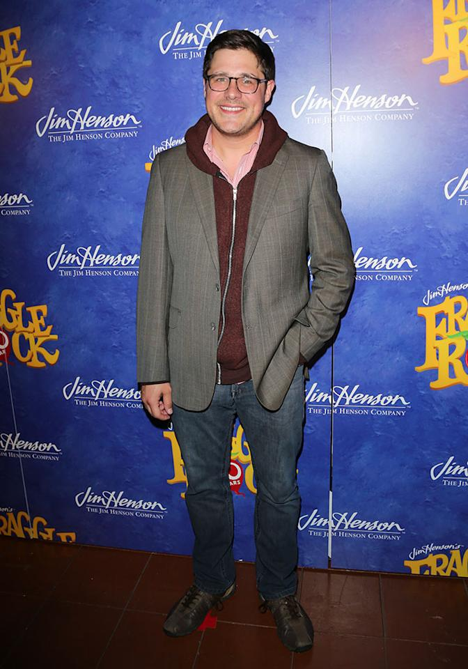 "Rich Sommer attends the ""Fraggle Rock"" 30th anniversary party at The Spare Room on April 24, 2013 in Hollywood, California."