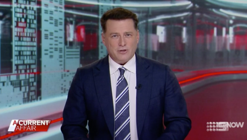Karl Stefanovic hosts a current affair