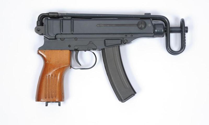 The korpion Vz61, A Czech 7.65 mm submachine gun.