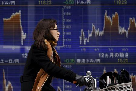 Asian stocks traded lower in morning trading