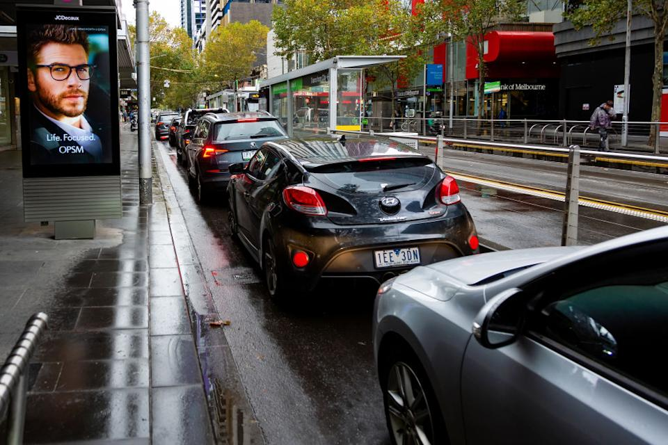 Mr Andrews has urged people not to travel into Melbourne if they don't need to. Source: AAP