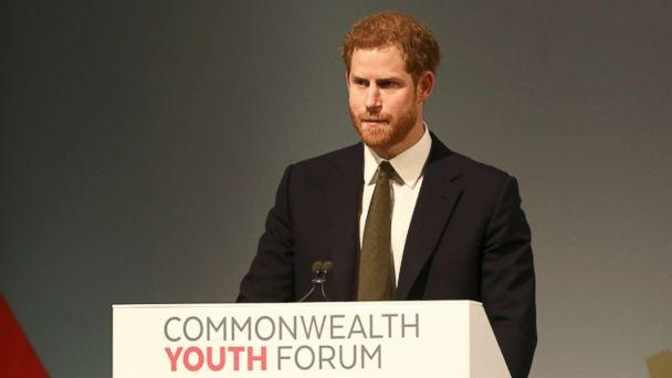 PHOTO: Britain's Prince Harry attends a Youth Forum on the sidelines of the Commonwealth Heads of Government Meeting (CHOGM) in London, April 16, 2018. (Simon Dawson/AFP/Getty Images)