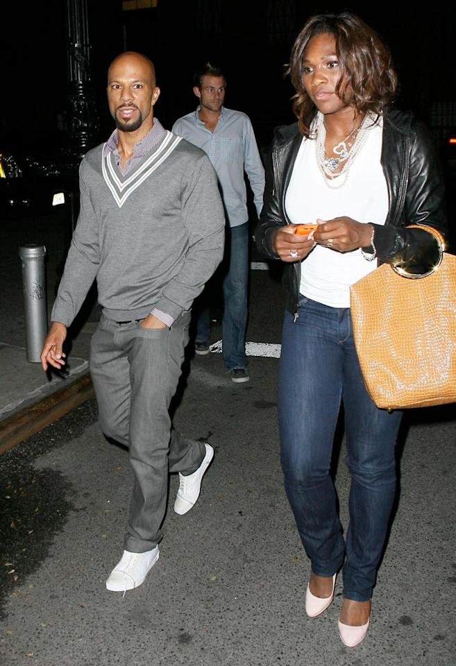 """Common doesn't like to talk much about his private life, but he's been linked romantically to Serena for a while now. Don't you think they make a good-looking couple? T/<a href=""""http://www.x17online.com"""" target=""""new"""">X17 Online</a> - July 6, 2009"""