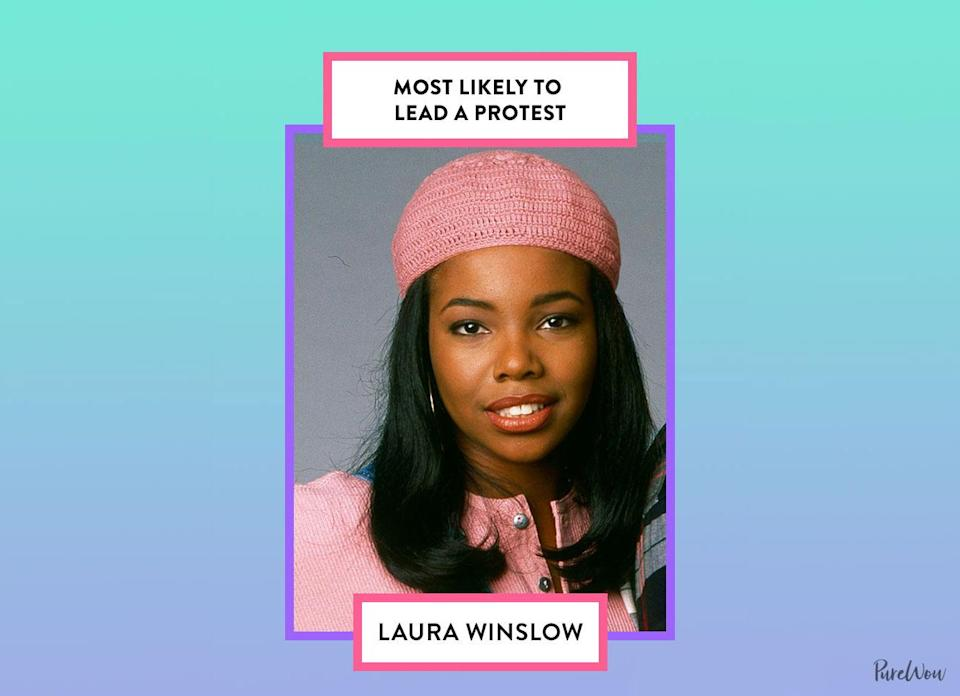 <p>With her unwavering confidence and ability to freely speak her mind, we imagine Laura wouldn't hesitate to join the frontlines for a cause that she's passionate about. </p>