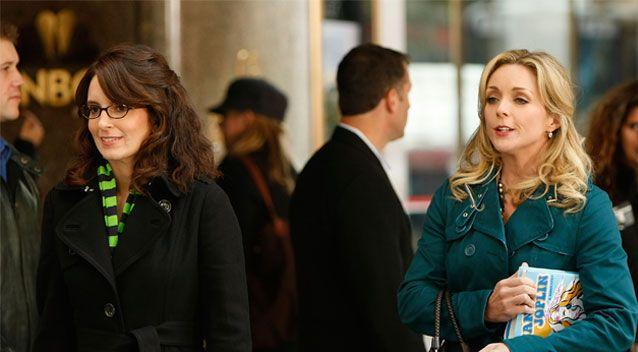 Tina Fey (left) wrote an episode of 30 Rock where actress Jane Krakowski (right) made references to Weinstein's sexual advances. Source: Getty