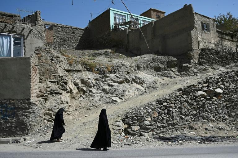 Afghan women in Kabul last week. Guterres highlighted the need to protect the gains made for women and girls over the past two decades (AFP/WAKIL KOHSAR)