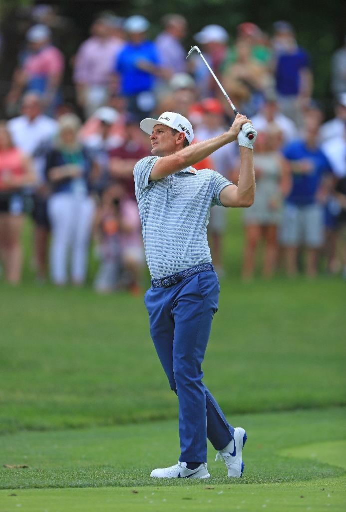 England's Justin Rose on the way to a second-round 63 in the US PGA Tour's Memorial Tournament (AFP Photo/SAM GREENWOOD)