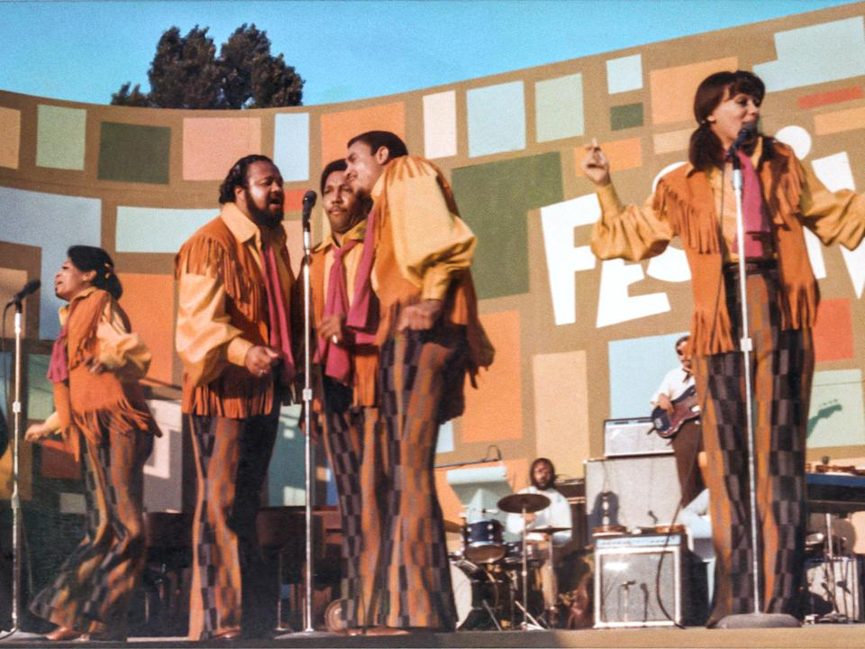 5th Dimension performing in Summer of Soul (Disney+)