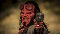 David Harbour stepped into Ron Perlman's shoes, while Neil Marshall stepped into Guillermo del Toro's for this new take on <em>Hellboy</em>. One day, the behind the scenes story will be fascinating but, for now, we're just left with a movie that didn't really satisfy anyone. (Credit: Lionsgate)
