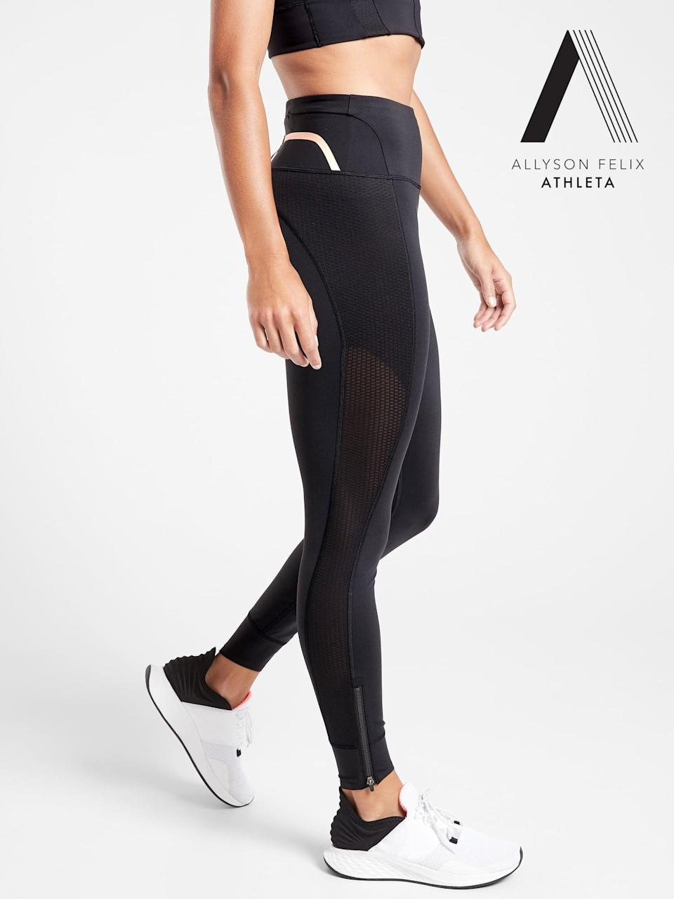 <p>This <span>Athleta Legend Mesh 7/8 Tight</span> ($109) is a collaboration with Olympic runner Allyson Felix, so you know these were made to move. The tights are made with supersonic fabric, which may not give you Felix's Olympic stride but will definitely help you move with ease and precision.</p>