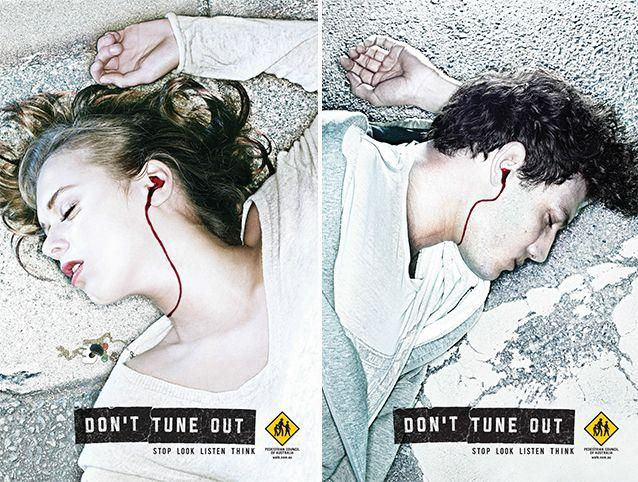 A previous 'Don't tune out' ad from the council. Source: PCA