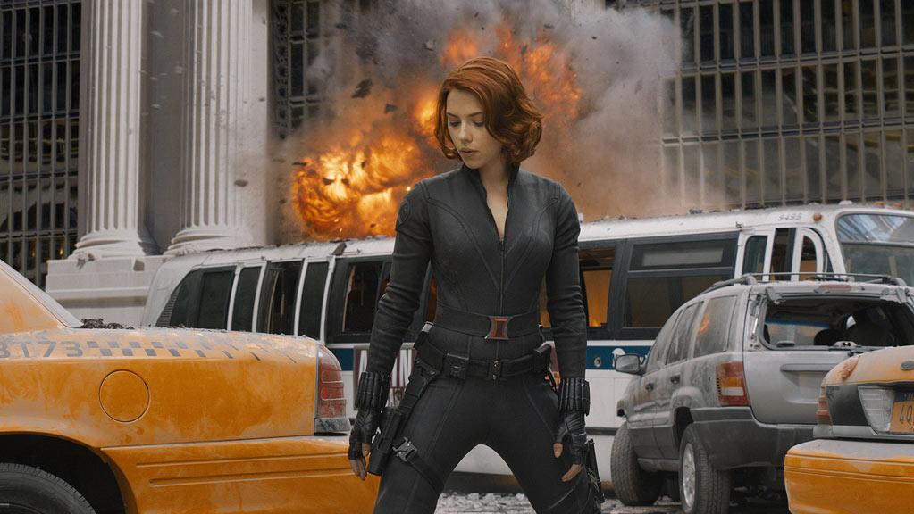 "<a href=""http://movies.yahoo.com/movie/contributor/1800022348"">Scarlett Johansson</a> in Marvel's <a href=""http://movies.yahoo.com/movie/1810026516/info"">The Avengers</a> - 2012"