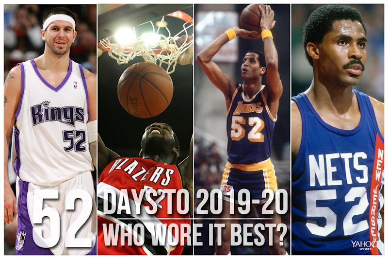Which NBA player wore No. 52 best?
