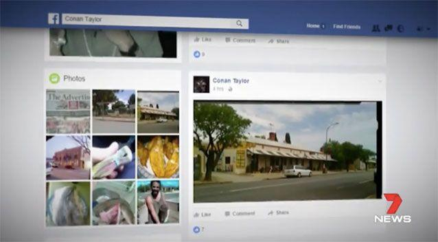 Some of Taylor's Facebook posts while on the run. Source: 7 News