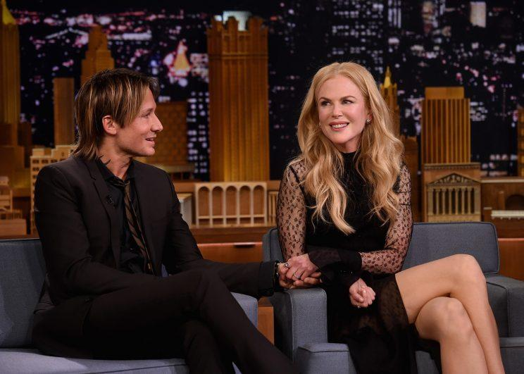 Keith Urban and Nicole Kidman during a segment on 'The Tonight Show Starring Jimmy Fallon' at Rockefeller Center on November 16, 2016 in New York City. Photo: Jamie McCarthy/Getty Images