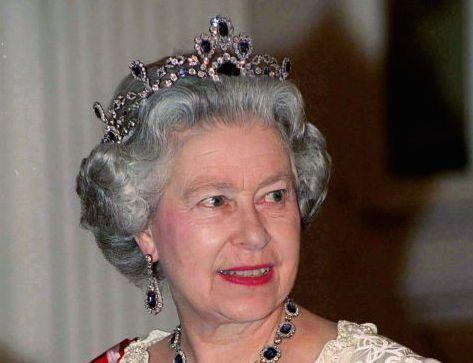 """<p>Queen Elizabeth's father gave her sapphire jewels (originally purchased by George VI ) as a wedding gift in 1947, and she had a matching <a href=""""http://royalcentral.co.uk/uk/thequeen/blue-sapphire-year-the-queens-sapphire-parure-77700"""" rel=""""nofollow noopener"""" target=""""_blank"""" data-ylk=""""slk:tiara"""" class=""""link rapid-noclick-resp"""">tiara</a> made in the 60s. Because clearly she simply didn't have enough tiaras and needed another, don't question it.</p>"""