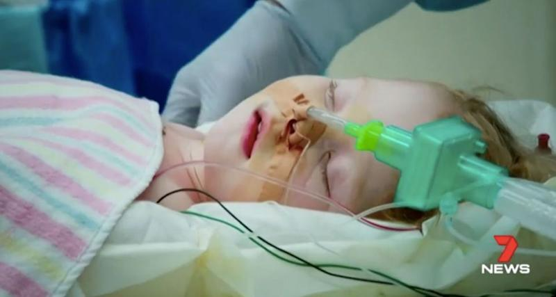 Charlotte Shaif was born with congenital heart disease. Source: 7 News