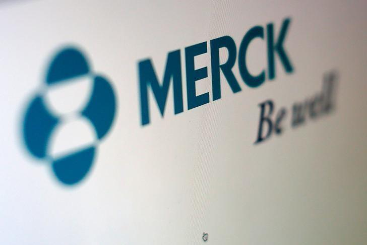 The logo of Merck is pictured in this illustration photograph in Cardiff, California