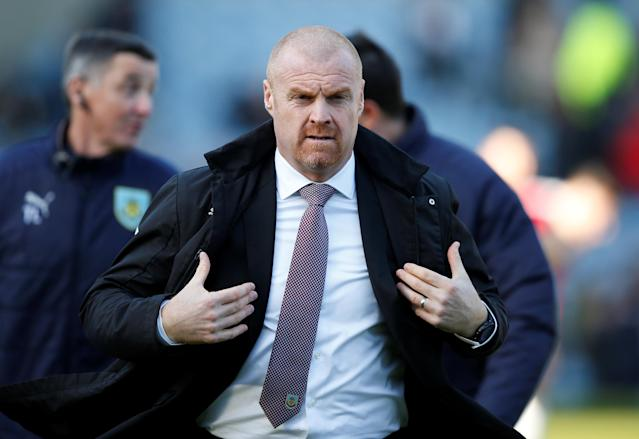"Soccer Football - Premier League - Burnley vs Southampton - Turf Moor, Burnley, Britain - February 24, 2018 Burnley manager Sean Dyche before the match REUTERS/Andrew Yates EDITORIAL USE ONLY. No use with unauthorized audio, video, data, fixture lists, club/league logos or ""live"" services. Online in-match use limited to 75 images, no video emulation. No use in betting, games or single club/league/player publications. Please contact your account representative for further details."