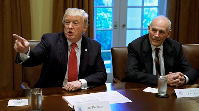 White House chief of staff John Kelly told reporters on Thursday that he doesn't think he's getting fired.