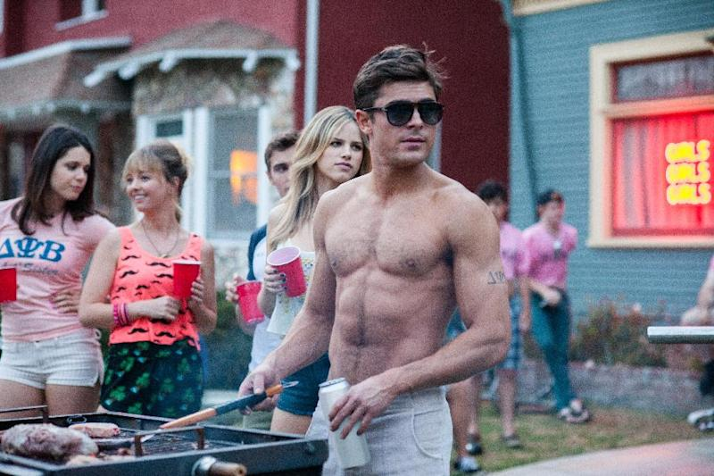 """This image released by Universal Pictures shows Zac Efron in a scene from the film, """"Neighbors."""" (AP Photo/Universal Pictures, Glen Wilson)"""